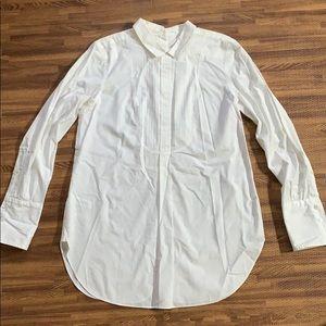 Open back white tunic dress LOFT shirt size small